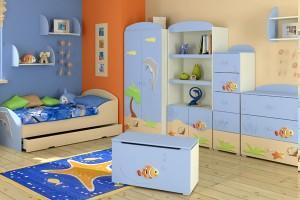 Детская спальня и ручки для детской мебели