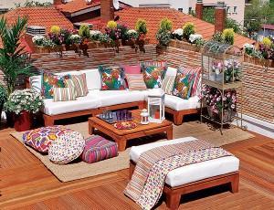 Курорт в собственном доме. Интерьер террасы, балкона