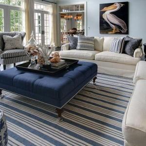 Украшаем жилой интерьер полосатым текстилем
