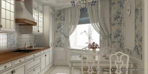 Роль текстиля в интерьере кухни- столовой. Английский стиль в доме