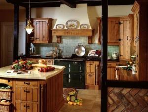 Стиль кантри для интерьера кухни- столовой в загородном доме