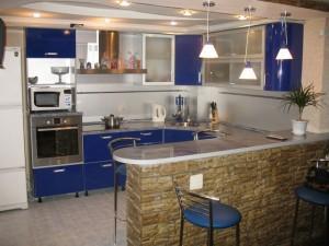 Зонирование территории кухни в частном доме или квартире