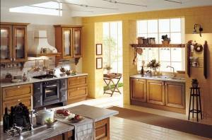 Классическая кухня в стиле кантри