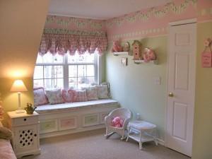 Шебби- шик в дизайне детской спальни