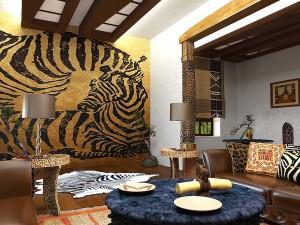 Африканский стиль как одно из направлений этники при декорировании коттеджа