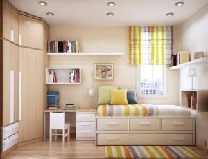 Детская комната. Мебель, окна и расстановка отопительных приборов