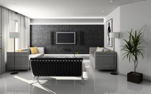 Модный интерьер в черно-белом цвете