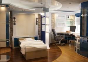 Кабинет в спальне: некоторые особенности